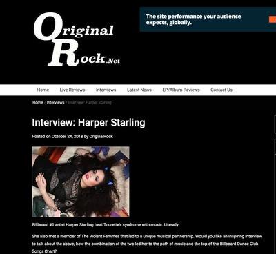 Harper Starling featured on Original Rock