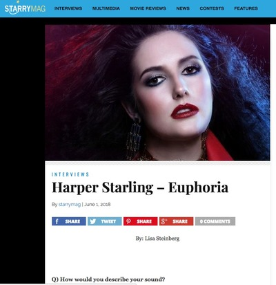 Harper Starling featured on Starry Magazine