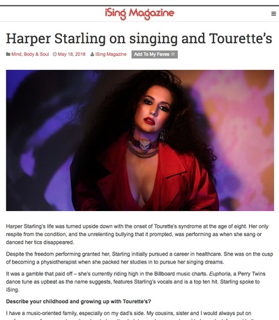 Harper Starling featured on isingmag