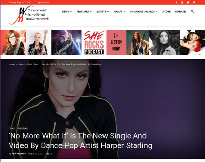 Harper Starling featured on The women's International music network
